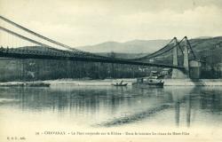 Chavanay - Le pont suspendu sur le Rhône