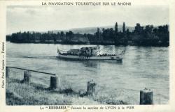 La navigation touristique sur le Rhône
