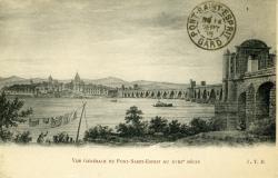 Vue générale du Pont-Saint-Esprit au XVIIIe siècle