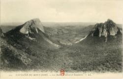 Environs du Mont-Dore ; Les Roches Tuilière et Sanadoire.
