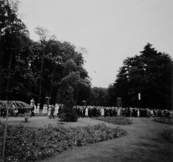 Inauguration de la Roseraie du parc de la tête d'or