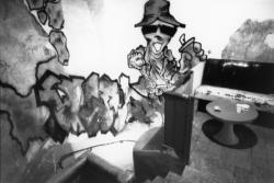 """[Fresque murale de la salle de concert """"Le Glob""""]"""