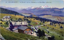 Aix-les-Bains : Le Revard 1.545 m. d'altitude et le Mont-Blanc (4.810 m.).