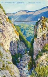 Environs d'Aix-les-Bains : Le Pont de l'Abîme.