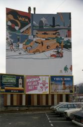 [107, rue Marietton : mur peint d'Ever Meulen]