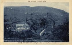 La Savoie touristique : Les déserts ; l'Eglise et la route du Mont Revard.