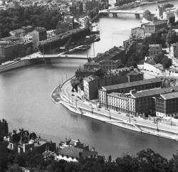 [La Saône à Vaise et le pont Maréchal-Koenig]