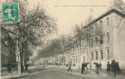 Lyon : Avenue de Saxe et le Nouveau Lycée.