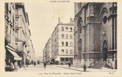 Lyon Illustré : Rue de Marseille ; Eglise Saint-André.