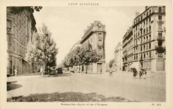 Lyon Artistique : Avenue Jean-Jaurès et rue d'Avignon.