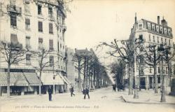Lyon : Place de l'Abondance et Avenue Félix-Faure.