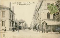 Lyon : Rue de Marseille et Avenue Berthelot.