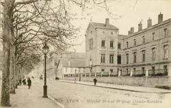 Lyon : Hôpital St-Luc et Quai Claude-Bernard.