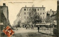 Lyon : Rue de Créqui et Place Voltaire.