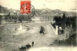 Lyon : Place de la Tête d'Or ; Pont de la Boucle ; Côteau de Saint-Clair.