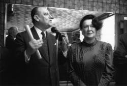 [Campagne pour les élections municipales de 1989 : réunion avec Francisque Collomb au Karting Bar]