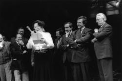 """[Campagne pour les élections municipales de 1989 : présentation de la liste """"Lyon d'abord""""]"""