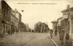 Lyon (Grand Trou) : Route de Vienne et Rue Croix-Mathon.