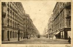 Lyon : La Rue de la République.