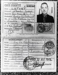 """[Fausse carte d'identité de Charles Béraudier, alias """"Galvany 22"""" dans la Résistance]"""
