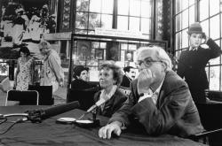"""[Institut Lumière : conférence de presse pour """"Daddy Nostalgie"""" de Bertrand Tavernier]"""