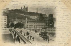 Lyon : Le Pont Tilsitt et le Côteau de Fourvière.