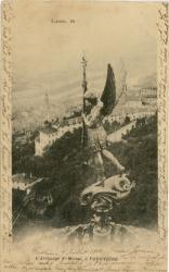 Lyon : L'Archange St-Michel à Fourvière.