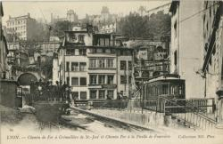 Lyon : Chemin de Fer à Crémaillère de St-Just et Chemin de Fer à la Ficelle de Fourvière.