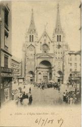 Lyon : L'Eglise Saint-Nizier.