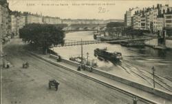 Lyon - Rives de la Saône ; Quais St-Vincent et de Bondy