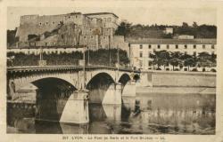 Lyon : Le Pont de Serin et le Fort St-Jean.