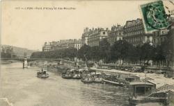 Lyon : Pont d'Ainay et des Mouches.
