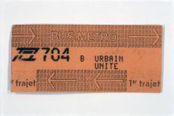[Ticket pour les transports en commun de l'agglomération lyonnaise]