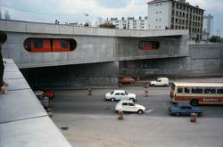 [Pont du métro lyonnais à la station Laurent-Bonnevay]