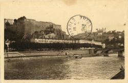 Lyon -Vaise : Quai de Serin et Fort Saint-Jean.