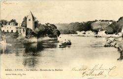 Lyon : Ile Barbe ; Bords de la Saône.