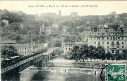 Lyon : Pont du Chemin de Fer sur la Saône.
