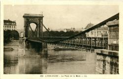 Lyon -Vaise : Le Pont de la Gare.