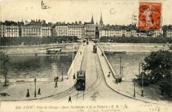 Lyon : Pont du Change ; Quais St-Antoine et de la Pêcherie.