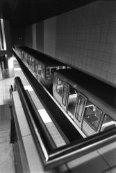 [Transports en commun de l'agglomération lyonnaise. Nouvelles stations Saint-Jean et Bellecour de la ligne D du métro avant exploitation]