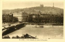 Lyon : Pont Lafayette et Coteau de Fourvière.