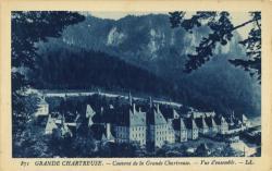 Grande Chartreuse : Couvent de la Grande Chartreuse ; Vue d'ensemble.