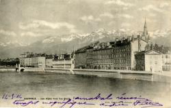 Grenoble : Les Alpes vues des Quais.