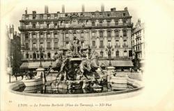 Lyon : La Fontaine Bartholdi (Place des Terreaux)
