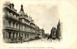 Lyon : Le Palais de la Bourse et la Place des Cordeliers.