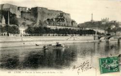 Lyon : Vue sur la Saône, prise de Serin.