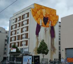 Fresque du muraliste chilien INTI