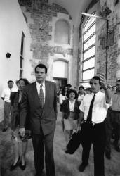 [Visite de chantier du Centre d'histoire de la Résistance et de la déportation (CHRD)]