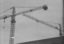 Place Bellecour : Grues infrarouges