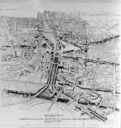 """[1er Symposium """"Partners for Livable Places"""" (1987). Projet pour l'entrée de Lyon (Babylone Avenue)]"""
